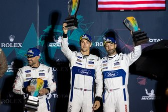 Podio GTLM: #67 Ford Chip Ganassi Racing Ford GT: Andy Priaulx, Harry Tincknell, Jonathan Bomarito