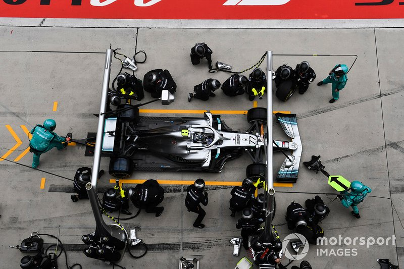Arrêt de Valtteri Bottas, Mercedes AMG W10