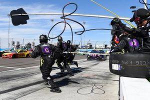 Jimmie Johnson, Hendrick Motorsports, Chevrolet Camaro Ally, makes a pit stop