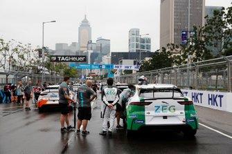 Sérgio Jimenez, Jaguar Brazil Racing waits beside his car at the back of the grid