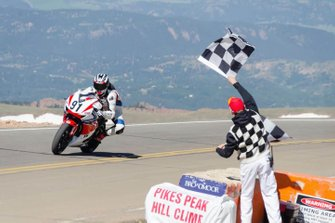 Pikes Peak bike action