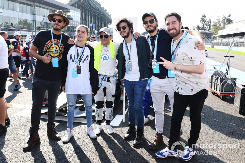 Felipe Massa, Venturi Formula E, in griglia di partenza con il comico Alex Fernandez