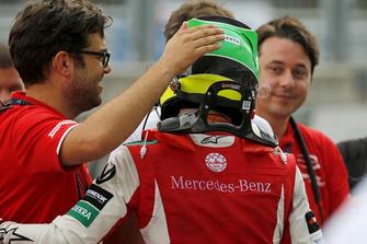 René Rosin, Team Manager, PREMA Theodore Racing, con Mick Schumacher, PREMA Theodore Racing
