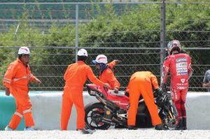 После аварии: Данило Петруччи, Ducati Team