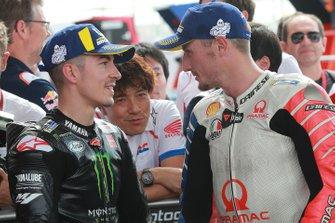 2. Maverick Vinales, Yamaha Factory Racing, mit Jack Miller, Pramac Racing