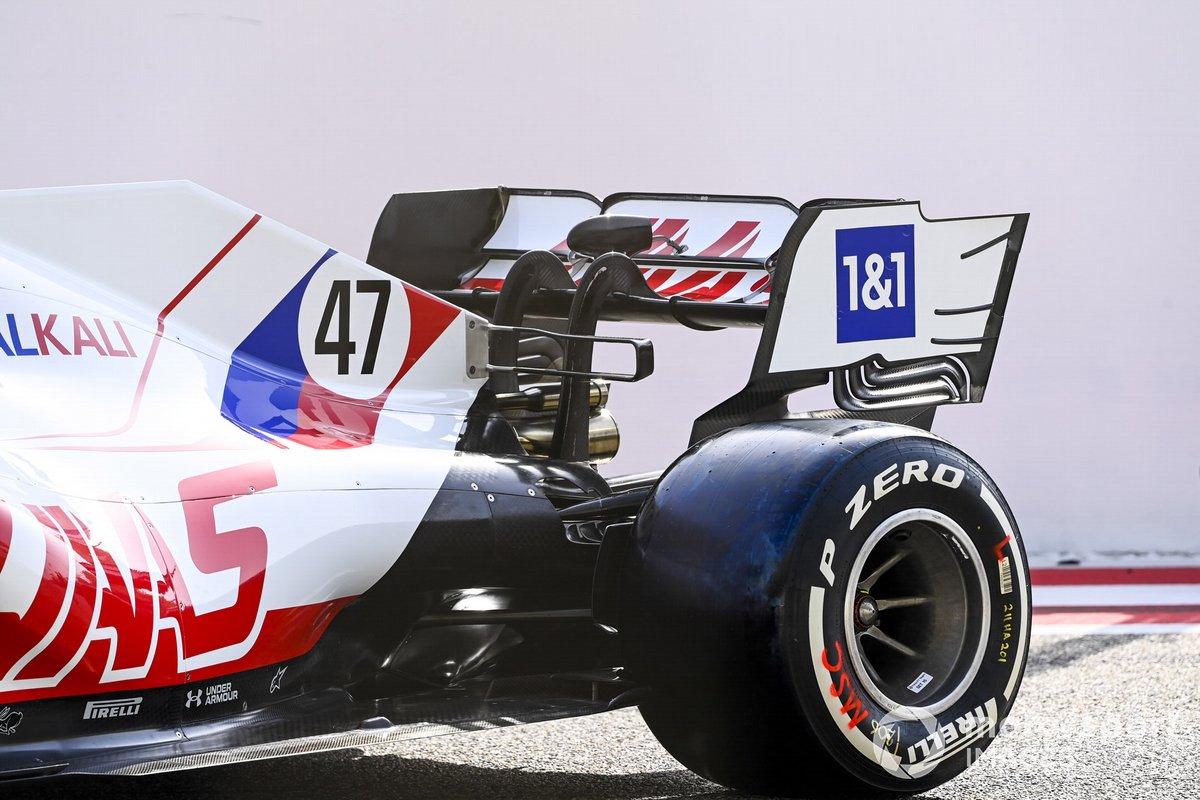 Detalle trasero del Haas VF-21