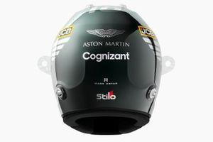Helmet of Lance Stroll, Aston Martin Racing