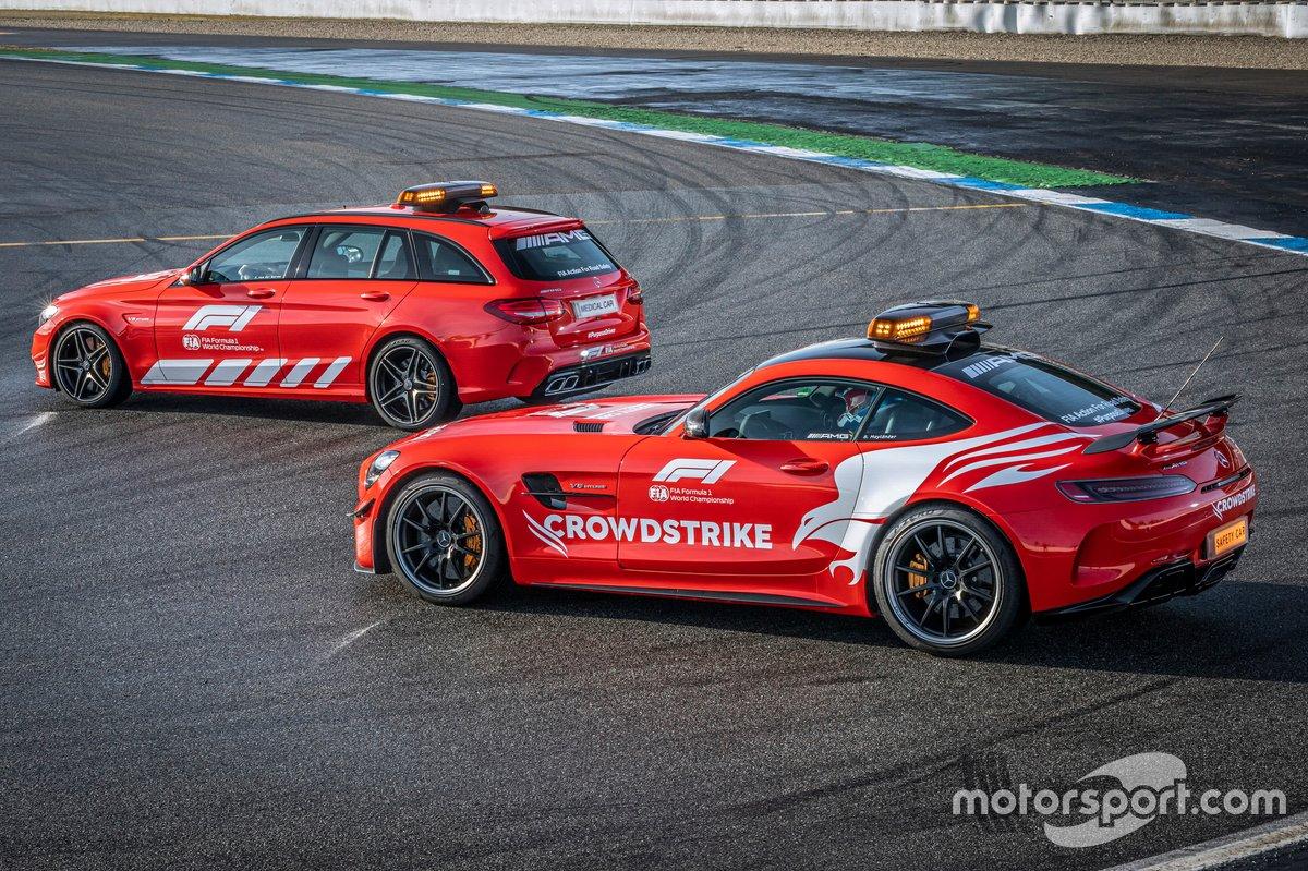 Mercedes-AMG Official FIA F1 Safety Car, Mercedes-AMG GT R e Medical Car, Mercedes-AMG C 63 S Estate