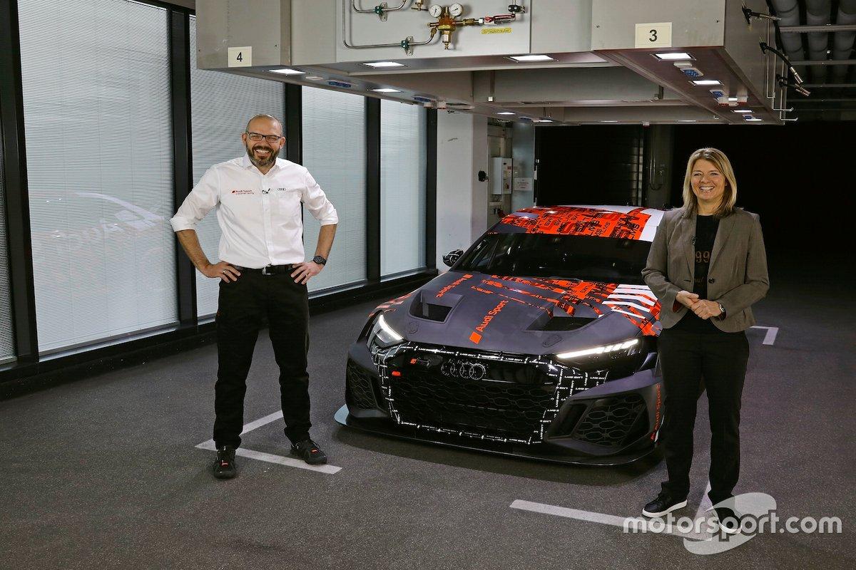 Chris Reinke, Maren Braun alla presentazione dell' Audi RS 3 LMS TCR