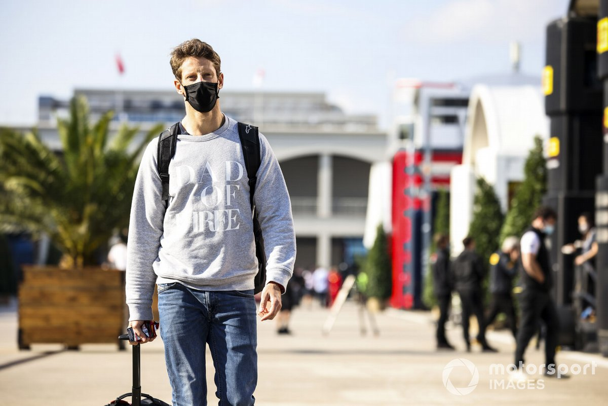 Romain Grosjean, Haas F1 in the paddock