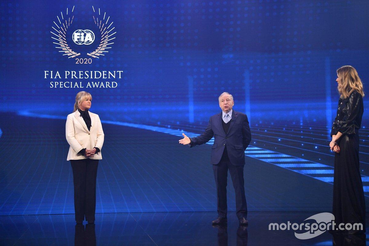 Corinna Schumacher, Jean Todt, presidente de la FIA, Nicki Shields