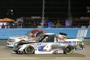 Raphael Lessard, Kyle Busch Motorsports, Toyota Tundra Mobil 1, Austin Wayne Self, AM Racing, Chevrolet Silverado GO TEXAN/AM Technical Solutions