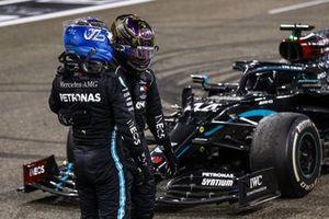Valtteri Bottas, Mercedes-AMG F1, congratulates Lewis Hamilton, Mercedes-AMG F1