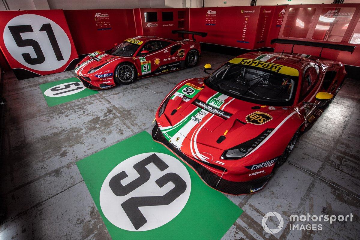 #51, #52 AF Corse: Ferrari 488 GTE Evo
