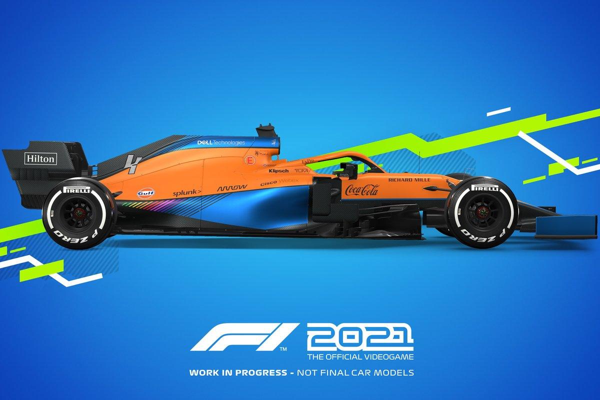 Decoración F1 2021 McLaren