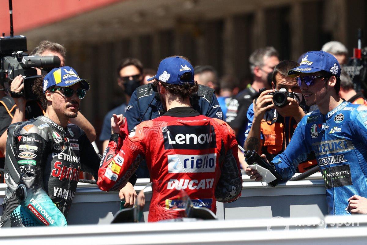 Francesco Bagnaia, Ducati Team, Franco Morbidelli, Petronas Yamaha SRT, Joan Mir, Team Suzuki MotoGP