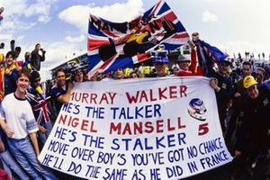 Des fans de Nigel Mansell et Murray Walker