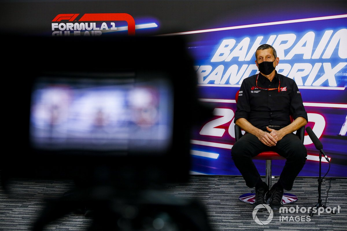 Guenther Steiner, Team Principal, Haas F1 in conferenza stampa