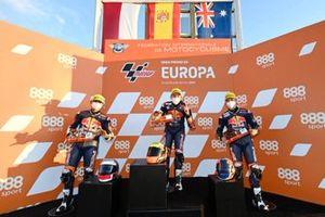 Podium Red Bull MotoGP Rookies Cup Valencia 1 Race 1: Mario Aji, David Salvador, Billy van Eerde