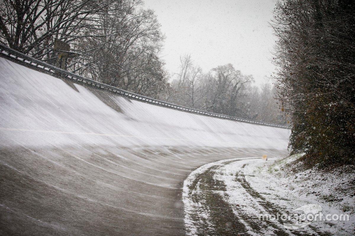 Peralte de Monza nevado
