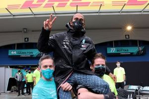 Lewis Hamilton, Mercedes-AMG F1, fête sa 7e couronne mondiale