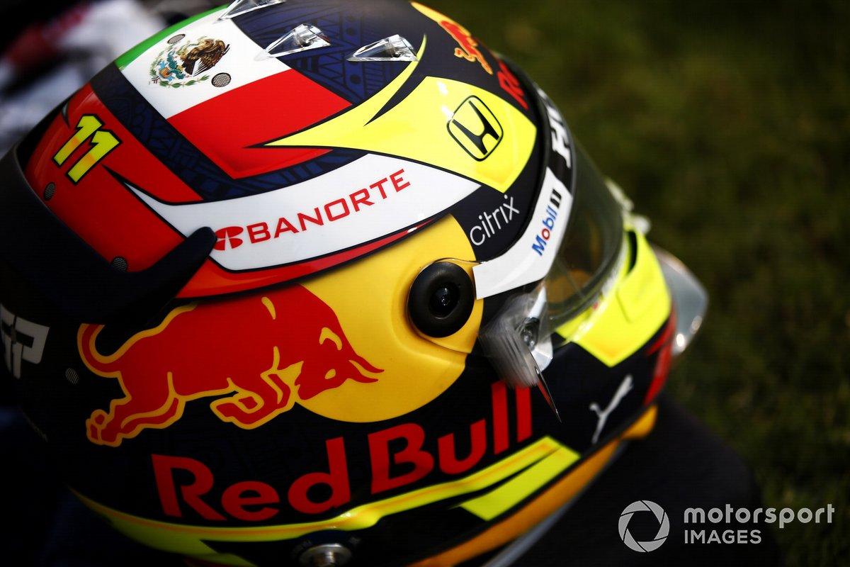 Casco de Sergio Pérez, Red Bull Racing