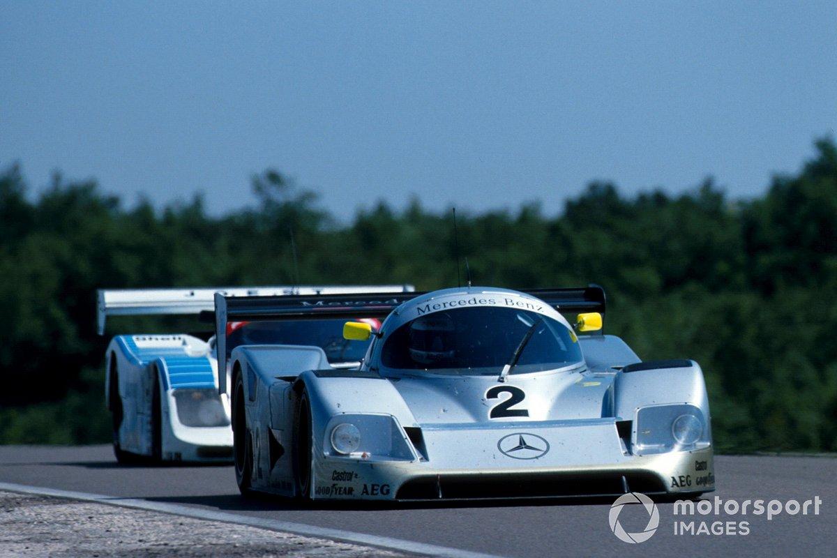 Jochen Mass, Michael Schumacher, Mercedes-Benz C11