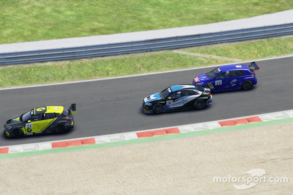 Tamás Tenke, Tenke Motorsport, CUPRA TCR, davanti a Nicolas Baert, Comtoyou Racing, Audi RS 3 LMS TCR e Julien Briché, JSB Compétition, Peugeot 308 TCR