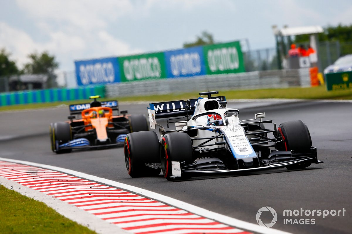 George Russell, Williams FW43, Lando Norris, McLaren MCL35