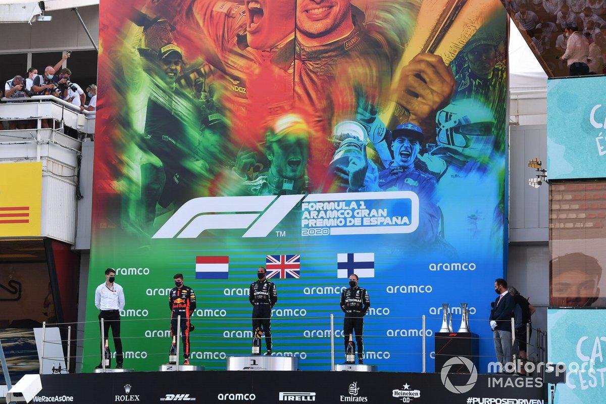 2020: 1. Lewis Hamilton, 2. Max Verstappen, 3. Valtteri Bottas