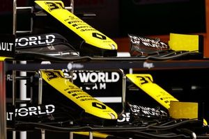 Nose cones of the Esteban Ocon Renault F1 Team R.S.20