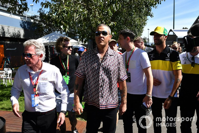 Robbie Williams y Daniel Ricciardo, Renault F1 Team