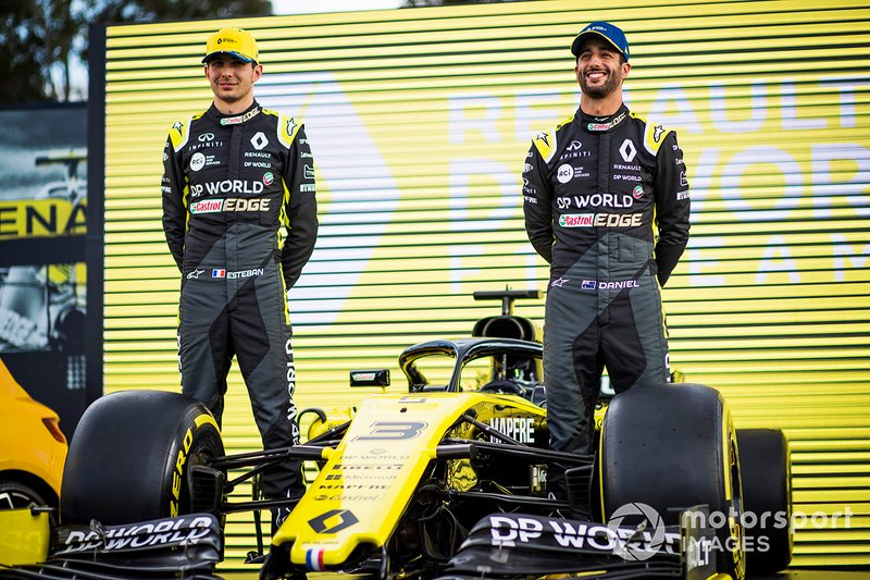 Esteban Ocon, Renault F1 Team e Daniel Ricciardo, Renault F1 Team
