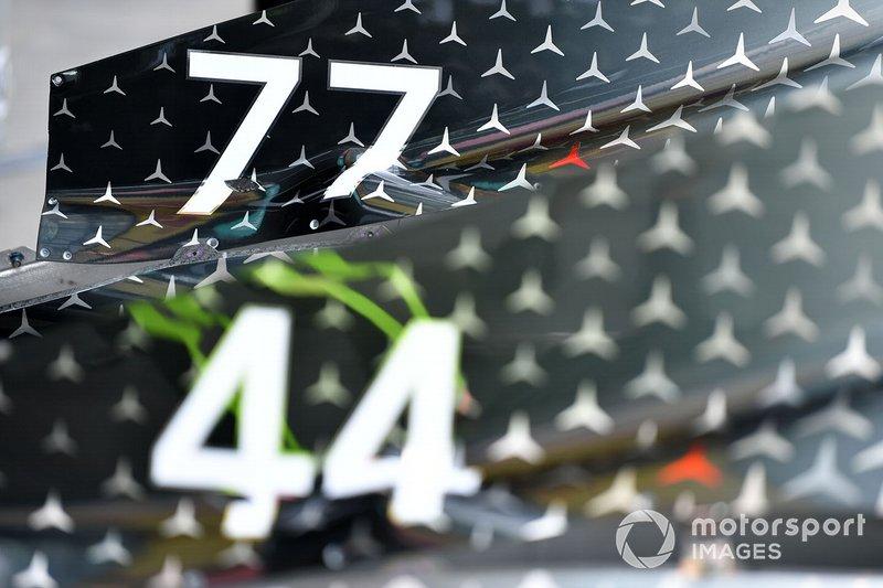 Il numero di Valtteri Bottas sulla Mercedes F1 W11