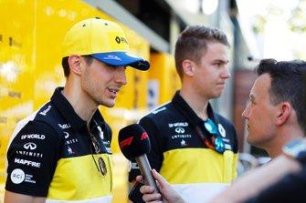 Esteban Ocon, Renault F1 Team, in the paddock