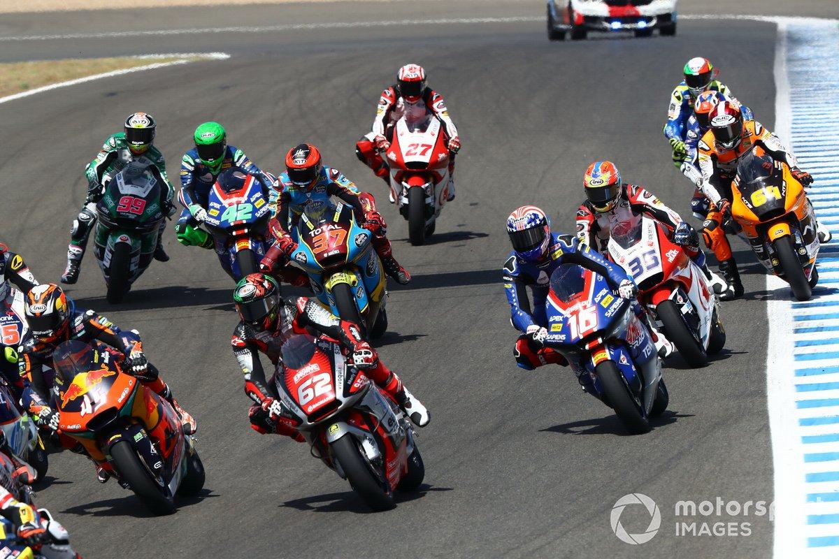Acción al inicio de la carrera de Jerez