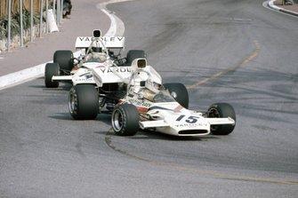 Brian Redman, McLaren M19A Ford leads Denny Hulme, McLaren M19C Ford
