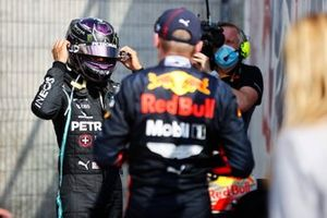Lewis Hamilton, Mercedes F1 W11 and Max Verstappen, Red Bull Racing RB16