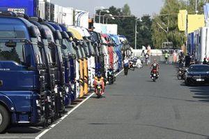 MotoGP-Fahrerlager in Brünn