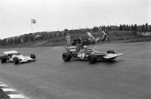 Francois Cevert, Tyrrell 002 Ford, Nanni Galli, March 711 Ford, Jackie Stewart, Tyrrell 003 Ford, Howden Ganley, BRM P160
