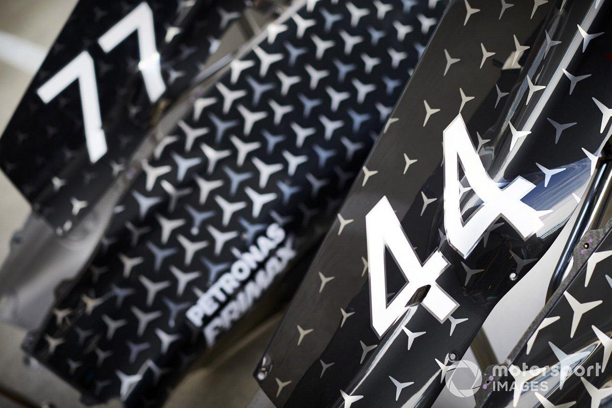 Cubierta de motor del Mercedes F1 W11
