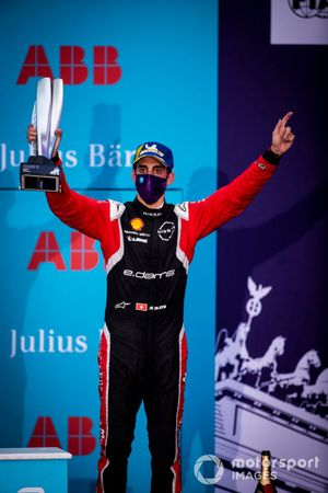 Podio: tercer lugar Sébastien Buemi, Nissan e.Dams