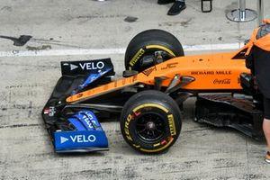 Front wing of Lando Norris, McLaren MCL35