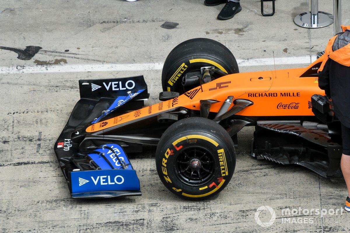 Alerón delantero de Lando Norris, McLaren MCL35