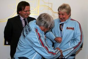 Bernie Ecclestone, F1 Supremo and Herbie Blash, FIA Observer