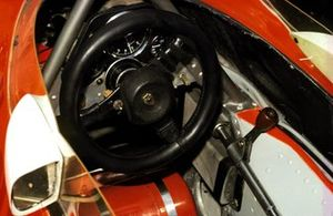 The cockpit of the McLaren M23