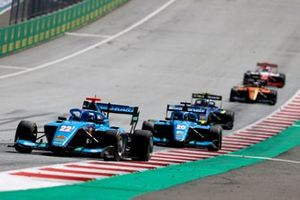 Matteo Nannini, Jenzer Motorsport, leads Calan Williams, Jenzer Motorsport