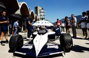 Nelson Piquet, Brabham BT53 BMW, with Paul Rosche of BMW