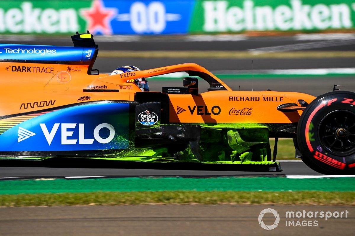 McLaren MCL35: Windabweiser mit Flow-Viz-Farbe