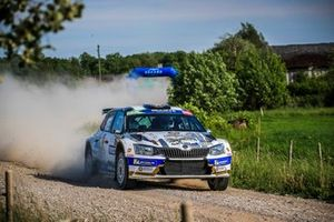 Filip Mares, Jan Hlousek, Skoda Fabia R5, FIA ERC, Rally Liepaja